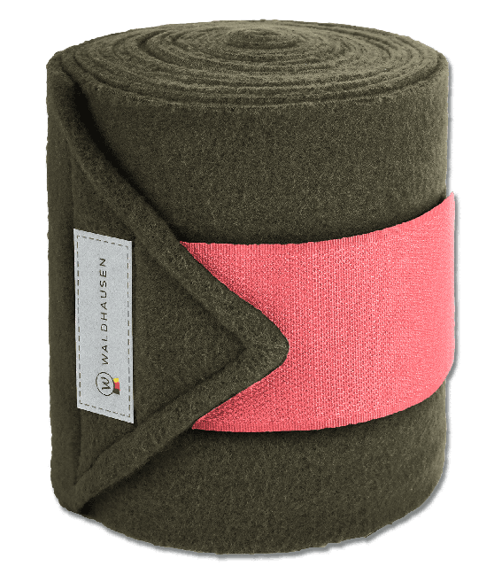 Bandes polaire olive/corail