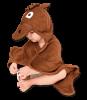 Essuie de bain avec capuche tête de cheval